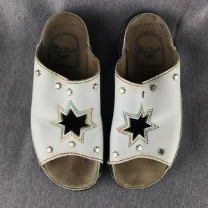 🏳️‍🌈White Rainbow 7 Star Dr. Martens Sandals🌈